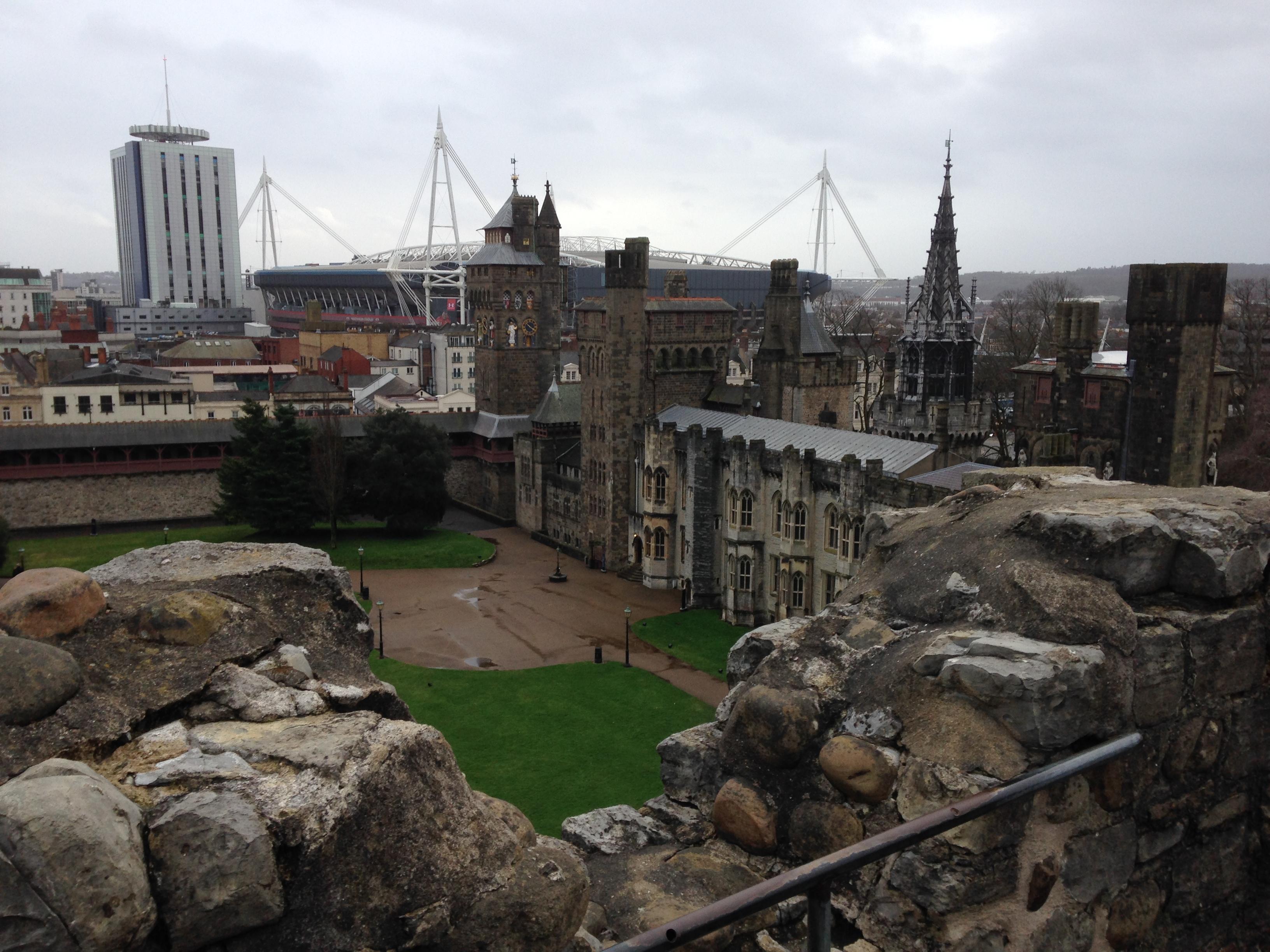 Cardiff Castle Millenium view