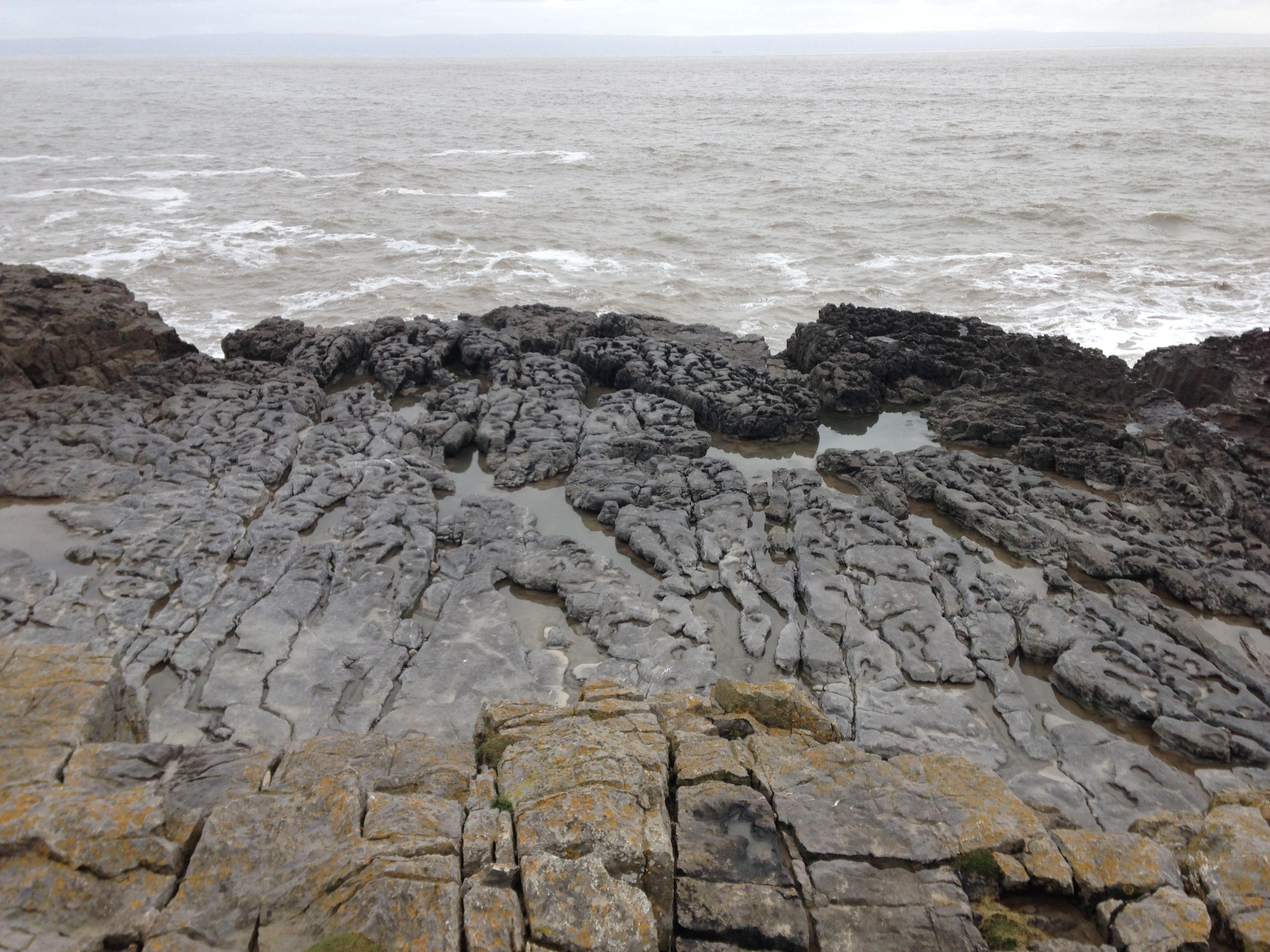 Lava rocks by the coast